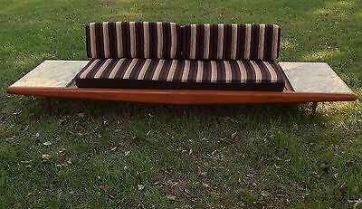 vtg Adrian Pearsall sofa mid century modern daybed gondola marble tops space age