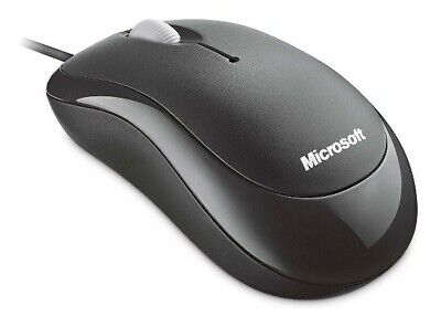 Microsoft Wired Basic Optical Mouse for Business - Black Brand New 4YH-00005