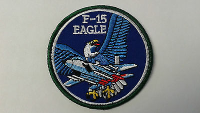 1 pc F-15 EAGLE EMB PATCH SEW/IRON ON.