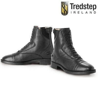 NEW Tredstep Ladies Giotto Rear Zip Paddock Boots - Black - Sizes 37-41