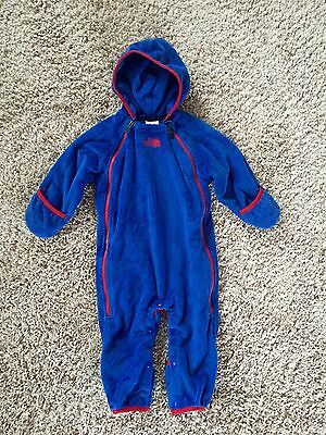 The North Face Baby Boys Fleece Snowsuit One Piece Outfit. Size 6-12 Months.