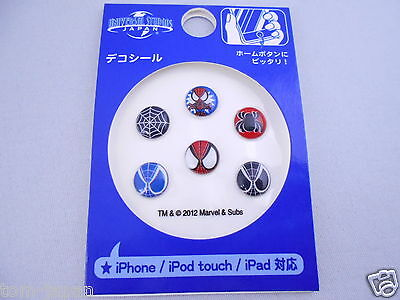 6pcs Spider Man Home Button Sticker Apple iPhone Universal Studios Japan Limited