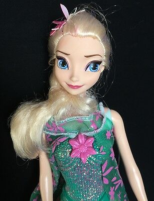 Disney Frozen Fever Singing Elsa Doll Barbie Size