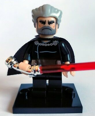 Count Dooku Minifigure - NEW in bag - Lego compatible - Star Wars figure