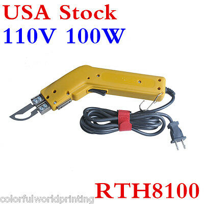 USA!! 100W Heavy Duty Electric Hot Knife Heating Cutter Tool For Fabric Leather