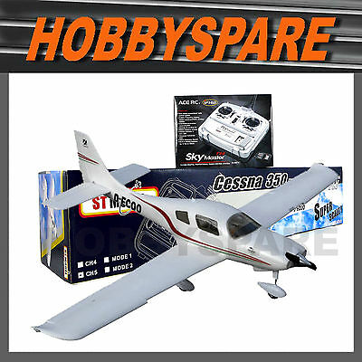 NEW ST MODEL CESSNA 350 BRUSHLESS RC PLANE EPO 1.4M 5CH RTF COMBO w LIGHTS FLAPS