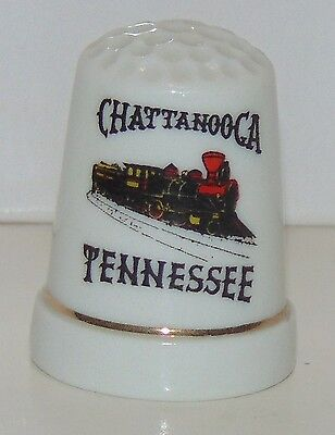 Ceramic Porcelain thimble Chattanooga Tennessee train