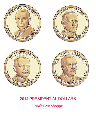2014 Presidential Dollars Complete P&d Set - 8 Coins ****in-Stock****