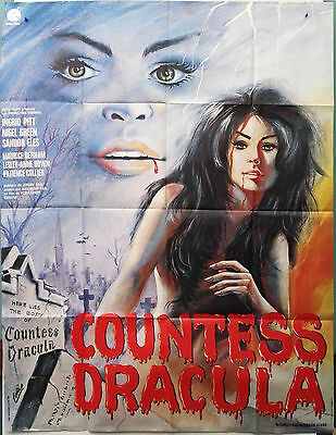 Original Vintage Folded French Movie Poster COUNTESS DRACULA