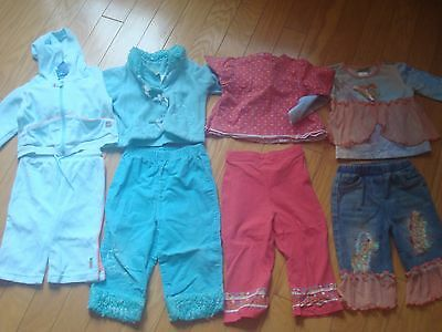 Lot of 4 EUC girls sets tops and pants size 12- 24 months