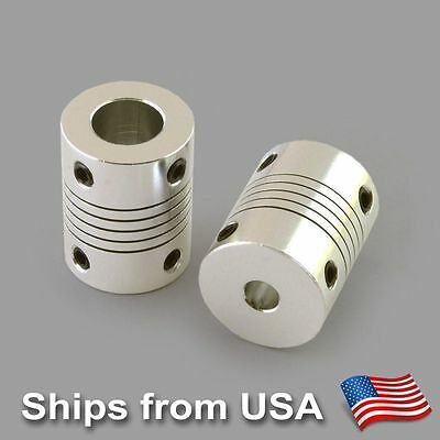 CNC Router Mill 6 x Flexible Shaft Coupler Motor Coupling 5mm to 12mm