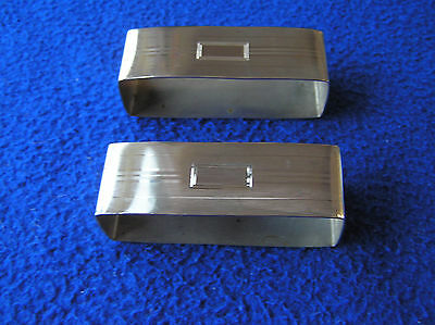 Pair  of sterling silver napkin rings by Blackington