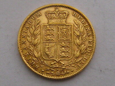 Queen Victoria Sovereign 1871 Shield Great Britain