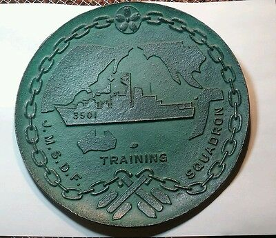 J.M.S.D.F. Bronze Plaque TRAINING SQUADRON JS KATORI TV 3501 Cruiser JAPAN  8""