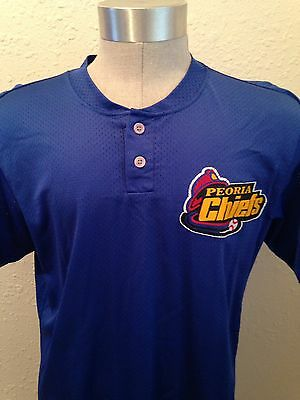Hak Ju Lee Chicago Cubs Peoria Chiefs Game Used Worn BP Jersey South Korea COA