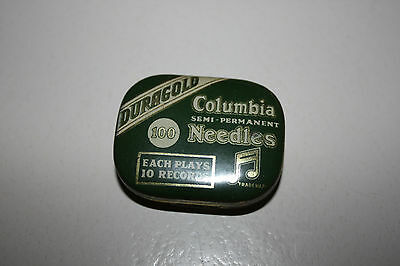 Vintage Columbia Duragold semi-permanent  Gramophone Needle Tin With Contents