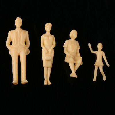 20pcs G Scale Unpainted Model Train People Mixed Figures 1:30 Layout Toy