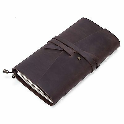Retro Genuine Leather Bound Notebook/Journal/Diary 100% Recycled Handmade Paper