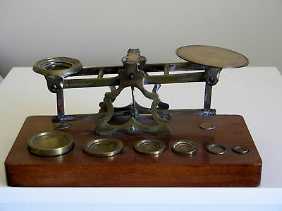 """Antique  """" Samson Mordan""""  Letter Scales With Weights"""