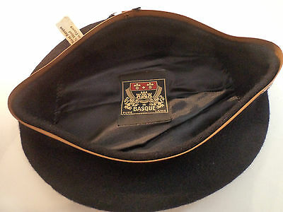 Vintage  BASQUE  BERET  UNUSED  made in FRANCE  58  9  hat cap French genuine