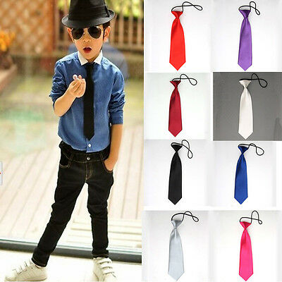 New Boy Kids Baby Toddler Wedding Party Neck Tie Necktie School Suit Accessories