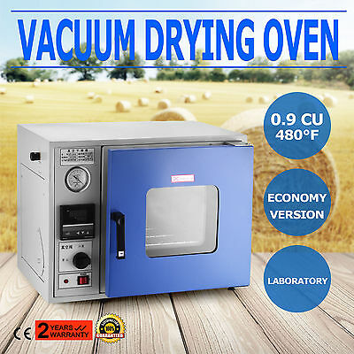 0.9 Cu Ft 480°F LCD Dispaly  Lab Vacuum Air Convection Drying Oven