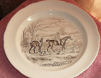 Vintage Copeland Spode The Huntsman  From Original Drawings Of Jf Herring