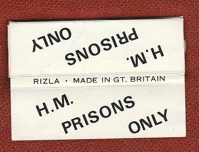 Prison Service cigarette ROLLING PAPERS packet #824