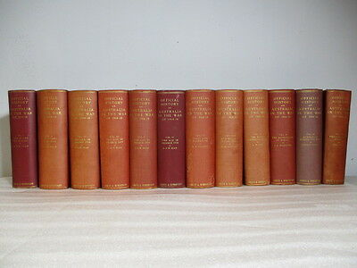 Set Of12 The Official History Of Australia In The War 1914 - 18 Ww1 Books Bean