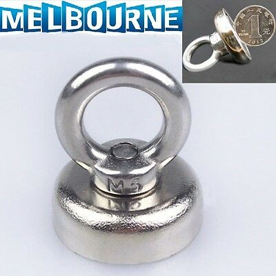 Strong N35 Neodymium Eyebolt Circular Ring Magnet 14KG Salvage Hook 25 x 30mm #5
