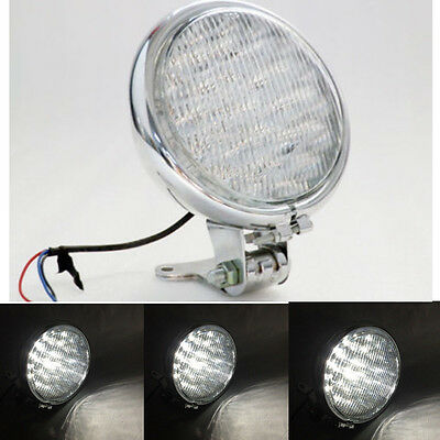 """5"""" Inch 30 LED Moto Phare Lampe Lumière Feux Avant Headlight Support Pour Harley"""