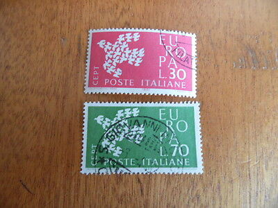 Italy ~ Europa 1961 ~ Complete Used Set ~ Sg1066-67