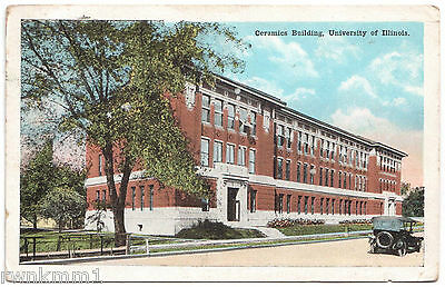 AK US USA Post Card Ceramics Building University of Illinois Champaign gel. 1921