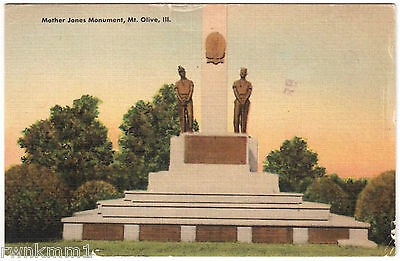 AK US USA Post Card Mother Jones Monument Mt. Olive gelaufen