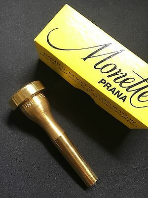 Monette PRANA XLT BLS1 Trumpet Mouthpiece Excellent Condition Gold Plated