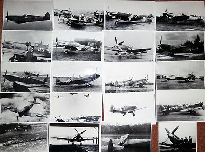 Raf Ww2 And Postwar Spitfire Collection - 20 Photographs