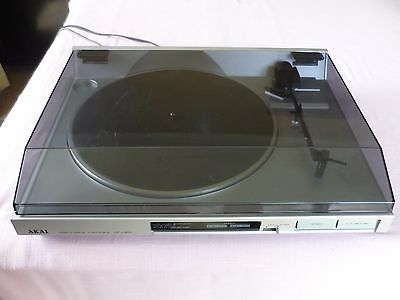 Akai Ap-A201 Direct Drive Semi Automatic Turntable With Akai Pc35 Cartridge