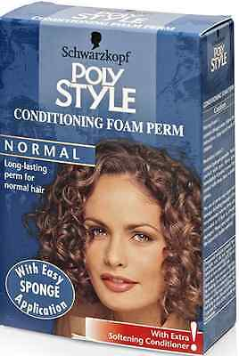 Schwarzkopf Poly Style Conditioning Foam Perm Normal Hair x2
