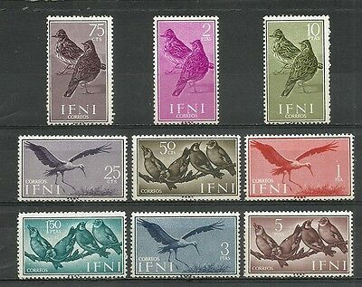 SPANISH IFNI 1960 Complete series 9 New stamps**.         (4060)