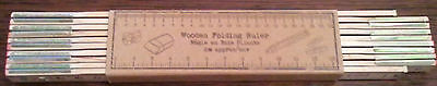 WOODEN FOLDING RULER METRIC 2 METRE / 200cm CRAFTING,SEWING BRAND NEW