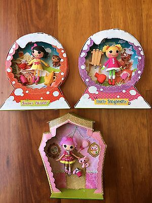 MINI LALALOOPSY 3 Sets Snowy Fairest Holly Sleighbells Jewel Sparkles with Boxes