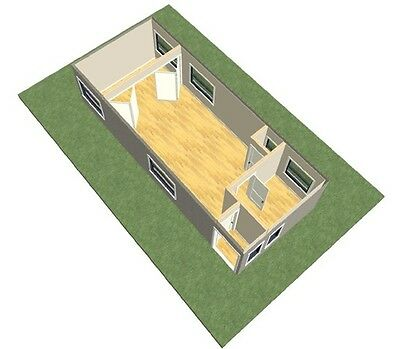 transportable one bd container home/house/office/cabin, steel frame, 43m2