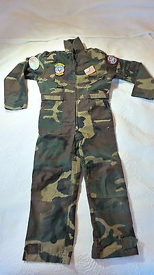 Milcom army cameo all in one overall for boy aged aprox 8-10 size m