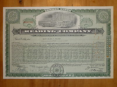 RR: Reading Company, div. Shares, 1957, Bahnhof*