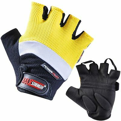 Wholesale Lot Half Finger Weight Lifting Gym Training Gloves Fitness S/M & L/XL