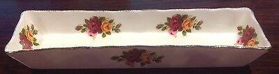 Fine bone china mint tray decorated roses gold trim Made in Taiwan