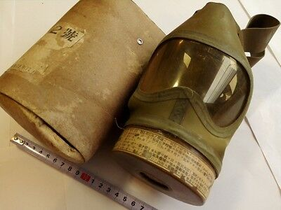WWII IMPERIAL JAPANESE ARMY SOLDIER Original Gas Mask in Original Boxed-M-