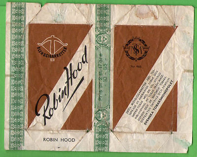Old EMPTY cigarette pack Robin Hood packet #255