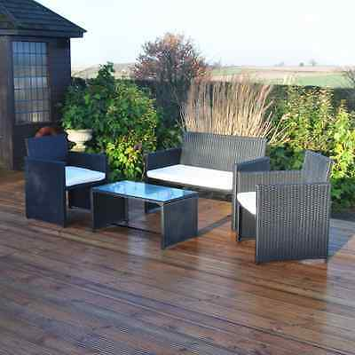 Garden Furniture Patio Set Rattan Effect Garden Table & Chairs