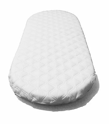 SUZY Microfibre Hypoallergenic Moses Basket Mattress 66 x 28 x 4cm Thick Oval